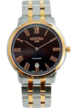 Швейцарские наручные  мужские часы Roamer 515.810.49.05.50. Коллекция Superslender.