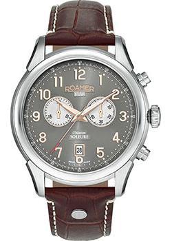 Швейцарские наручные  мужские часы Roamer 540.951.49.06.05. Коллекция Soleure Chrono.
