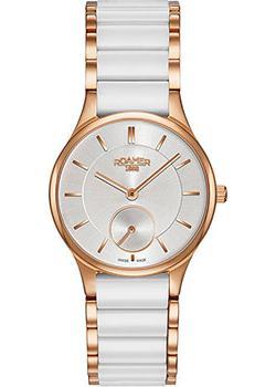 Швейцарские наручные  женские часы Roamer 677.855.49.15.60. Коллекция Ceraline