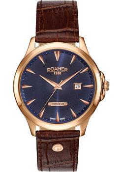 Швейцарские наручные мужские часы Roamer 705.856.49.45.07. Коллекция Windsor