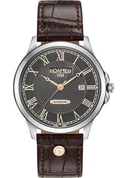 Швейцарские наручные  мужские часы Roamer 706.856.41.02.07. Коллекция Windsor.