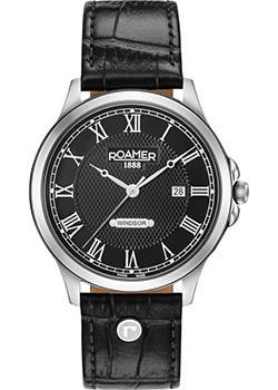 Швейцарские наручные  мужские часы Roamer 706.856.41.52.07. Коллекция Windsor.