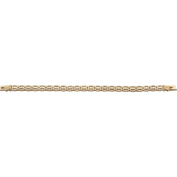 Купить Золотой браслет 01148RS, Браслет. Материал: красное золото 585 пр. Средний вес: 17.7 гр.., Ювелирное изделие