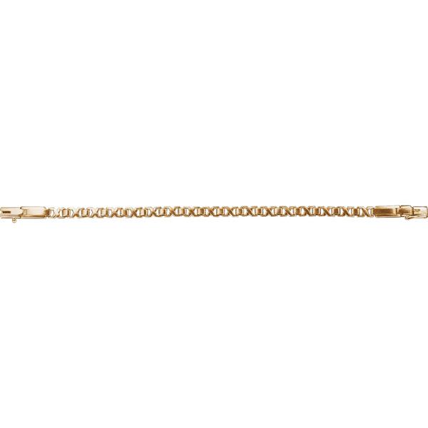 Купить Золотой браслет 01175RS, Браслет. Материал: красное золото 585 пр. Средний вес: 8.3 гр.., Ювелирное изделие