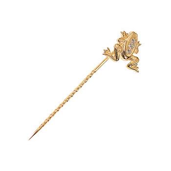Золотая брошь 02264RS