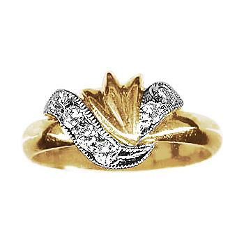 Золотое кольцо 10977RS фото