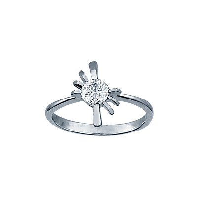 Кольцо с бриллиантом. 1 брилиант 0,45 карат;. Материал: белое золото 750 пр. Средний вес: 3 гр. Внимание