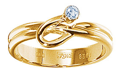 Золотое кольцо  15573RS