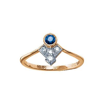 Золотое кольцо 17569RS фото