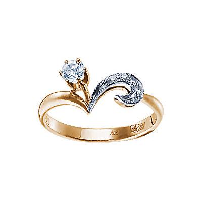 Золотое кольцо 17646RS фото