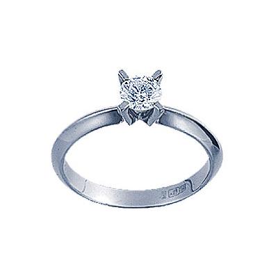 Кольцо с бриллиантом. 1 бриллиант 0,45 карат. Материал: белое золото 585 пр. Средний вес: 2.7 гр. Внимание