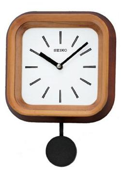 Настенные кварцевые часы. Маятник. Материал - дерево. Цвет коричневый. Размер 200х280х70 мм. - Настольные часы  Seiko Clock QXC223Z. Коллекция Интерьерные часы