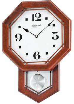 Настенные кварцевые часы. Маятник. Материал - дерево. Цвет коричневый. Размер 312х453х78 мм. - Настольные часы  Seiko Clock QXC226B. Коллекция Интерьерные часы