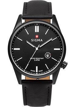 Швейцарские наручные мужские часы Sigma S005.110.01.01.2. Коллекция Кварцевые часы