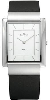 Швейцарские наручные  мужские часы Skagen 224LSL. Коллекция Leather от Bestwatch.ru