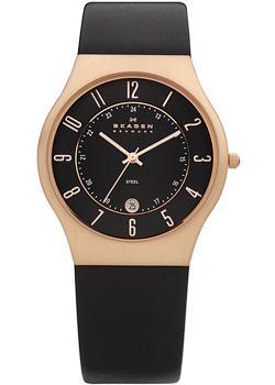 Швейцарские наручные  мужские часы Skagen 233XXLRLB. Коллекция Leather от Bestwatch.ru