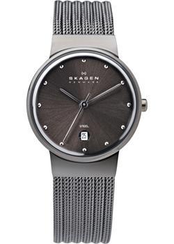 Швейцарские наручные  женские часы Skagen 355SMM1. Коллекция Mesh
