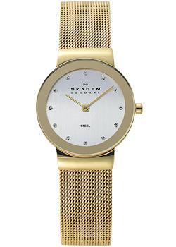 Швейцарские наручные  женские часы Skagen 358SGGD. Коллекция Mesh