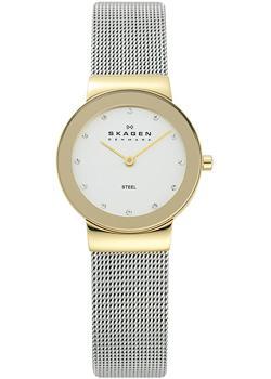 Швейцарские наручные  женские часы Skagen 358SGSCD. Коллекция Mesh