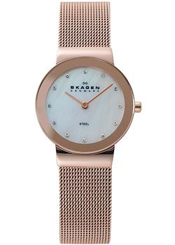 Швейцарские наручные  женские часы Skagen 358SRRD. Коллекция Mesh