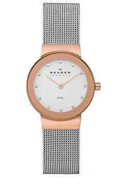 Швейцарские наручные  женские часы Skagen 358SRSC. Коллекция Mesh