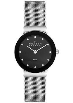 Швейцарские наручные  женские часы Skagen 358SSSBD. Коллекция Mesh