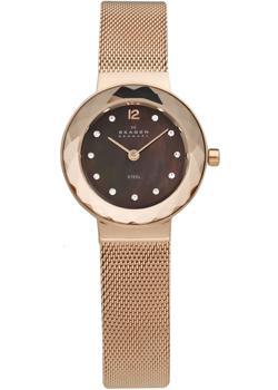 Швейцарские наручные  женские часы Skagen 456SRR1. Коллекция Mesh