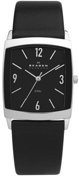 Швейцарские наручные  мужские часы Skagen 691LSLB. Коллекция Leather от Bestwatch.ru