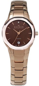 Швейцарские наручные  женские часы Skagen 822SRXD. Коллекция Links