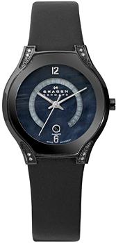 Швейцарские наручные  женские часы Skagen 886SBLB. Коллекция Leather Swiss от Bestwatch.ru
