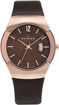 Швейцарские наручные  мужские часы Skagen 981XLRLD. Коллекция Leather от Bestwatch.ru