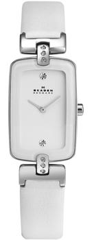 Швейцарские наручные  женские часы Skagen H01SSLW. Коллекция Leather от Bestwatch.ru