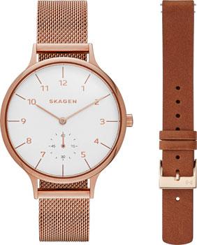 Швейцарские наручные  женские часы Skagen SKW1079. Коллекция Mesh