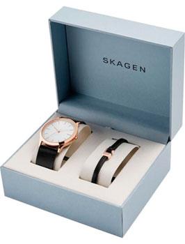 Швейцарские наручные  мужские часы Skagen SKW1102. Коллекция Leather.