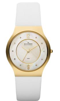 Швейцарские наручные  женские часы Skagen SKW2027. Коллекция Leather от Bestwatch.ru