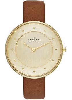 Швейцарские наручные  женские часы Skagen SKW2138. Коллекция Leather