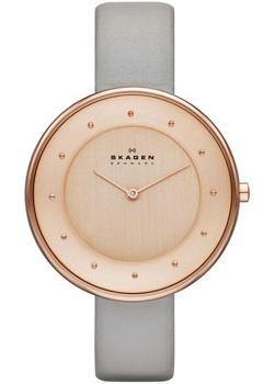 Швейцарские наручные  женские часы Skagen SKW2139. Коллекция Leather