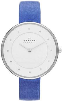 Швейцарские наручные  женские часы Skagen SKW2172. Коллекция Leather от Bestwatch.ru