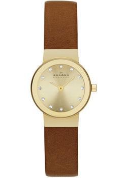 Швейцарские наручные  женские часы Skagen SKW2175. Коллекция Leather