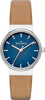 Швейцарские наручные  женские часы Skagen SKW2191. Коллекция Leather