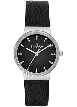 Швейцарские наручные  женские часы Skagen SKW2193. Коллекция Leather