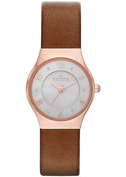 Швейцарские наручные  женские часы Skagen SKW2210. Коллекция Leather