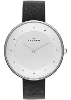 Швейцарские наручные  женские часы Skagen SKW2232. Коллекция Leather