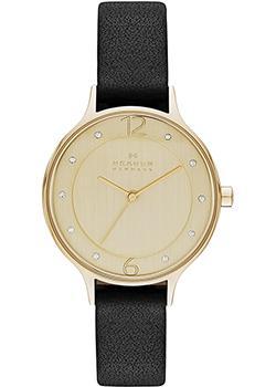 Швейцарские наручные  женские часы Skagen SKW2266. Коллекци Leather