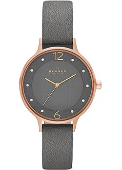 Швейцарские наручные  женские часы Skagen SKW2267. Коллекция Leather