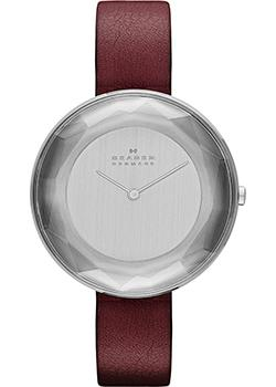 Швейцарские наручные  женские часы Skagen SKW2273. Коллекция Leather