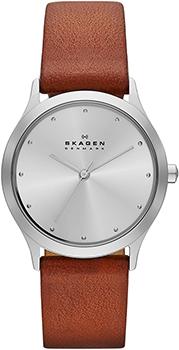 Швейцарские наручные  женские часы Skagen SKW2281. Коллекция Leather
