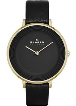 Швейцарские наручные  женские часы Skagen SKW2286. Коллекция Leather
