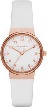 Швейцарские наручные  женские часы Skagen SKW2290. Коллекция Leather от Bestwatch.ru