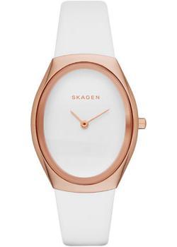 Швейцарские наручные  женские часы Skagen SKW2296. Коллекция Leather от Bestwatch.ru